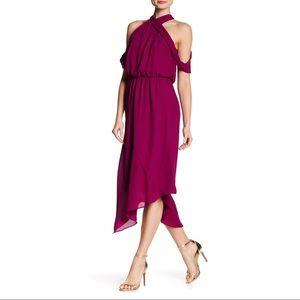 RACHEL Rachel Roy Cold Shoulder Midi Dress